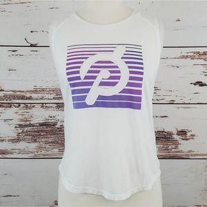 Peloton logo muscle tank white M